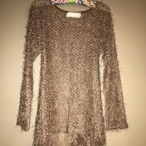 A'reve Eyelash Lace Tie Back Tunic M